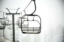 Snowfall at Squaw Valley, Oct. 16, 2016. On Tuesday morning a ski patrol worker was killed at the resort while doing avalanche control.