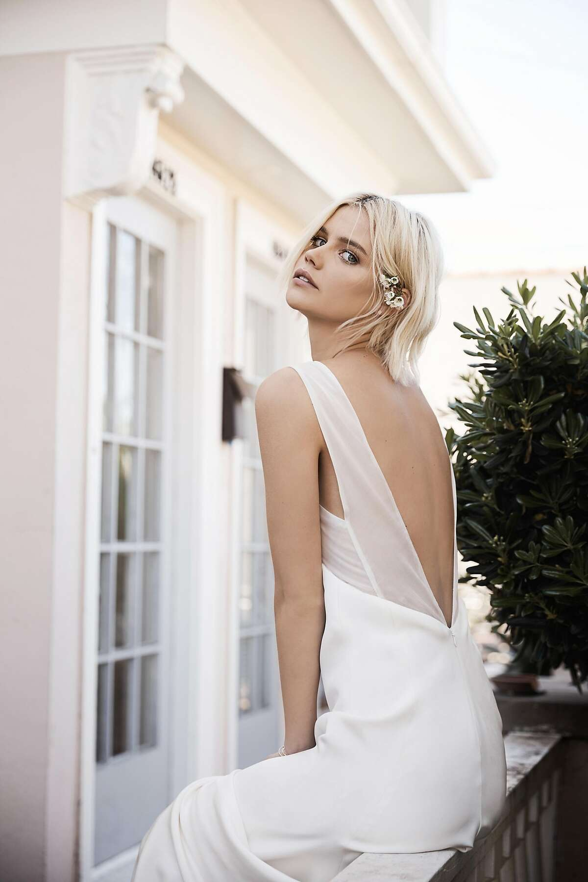 Floravere is a new bridal brand that offers a capsule collection of�thoughtfully constructed luxury wedding gowns, made in the same New York ateliers as runway designer gowns, $4,000.The gowns can be customized and are turned around in 3-6 months, then sent to brides by mail.