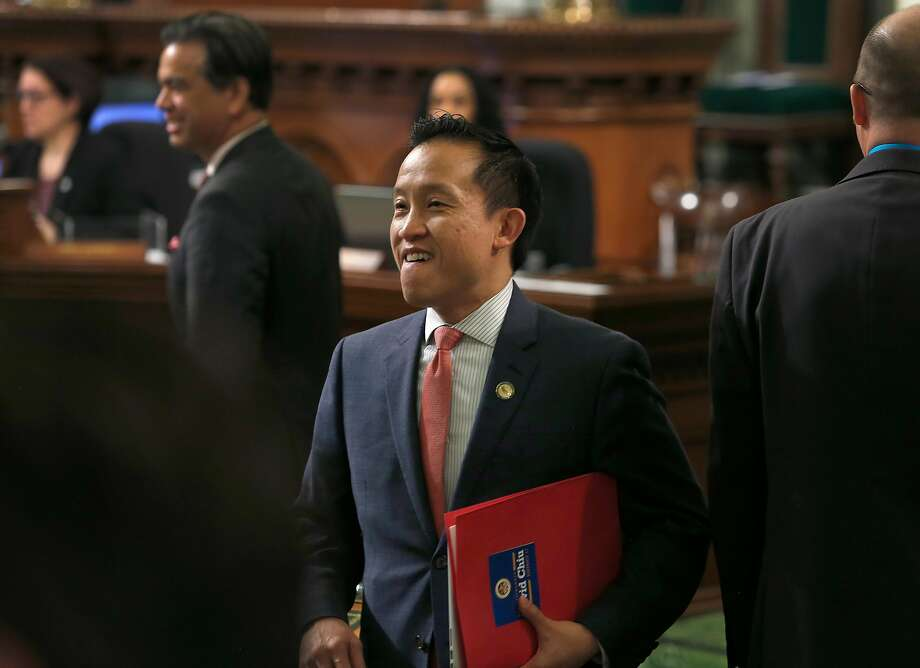 Assemblyman David Chiu arrives for Gov. Jerry Brown's State of the State address at the Capitol in Sacramento, Calif. on Tuesday, Jan. 24, 2017. Photo: Paul Chinn, The Chronicle