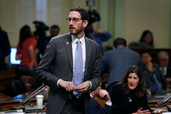 Sen. Scott Wiener attends his first State of the State address by Gov. Jerry Brown at the Capitol in Sacramento, Calif. on Tuesday, Jan. 24, 2017.