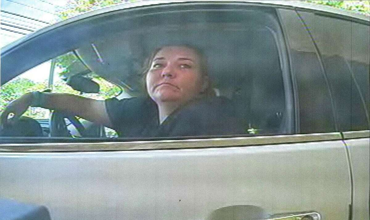 Photos of a woman released by the Norwalk Police Department who they say was involved in several counterfeit check cashing incidents in the Fairfield County area in July/August 2016.
