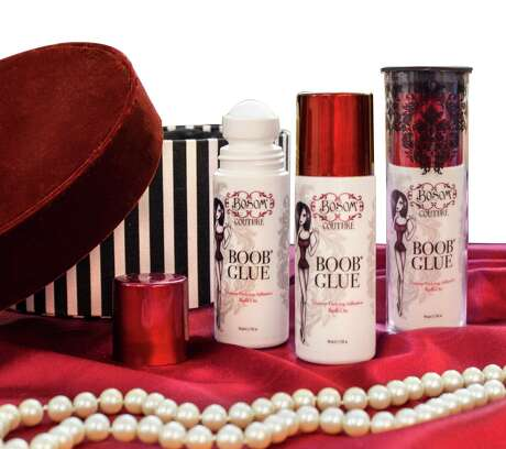 Bosom Couture Boob Glue costs $36.95 for a 3-ounce bottle; bosomcouture.com. Photo: Courtesy Photo