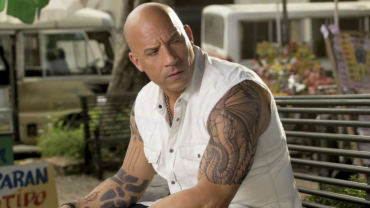 """This image released by Paramount Pictures shows Vin Diesel as Xander Cage in """"xXx: The Return of Xander Cage."""" (George Kraychyk/Paramount Pictures and Revolution Studios via AP)"""