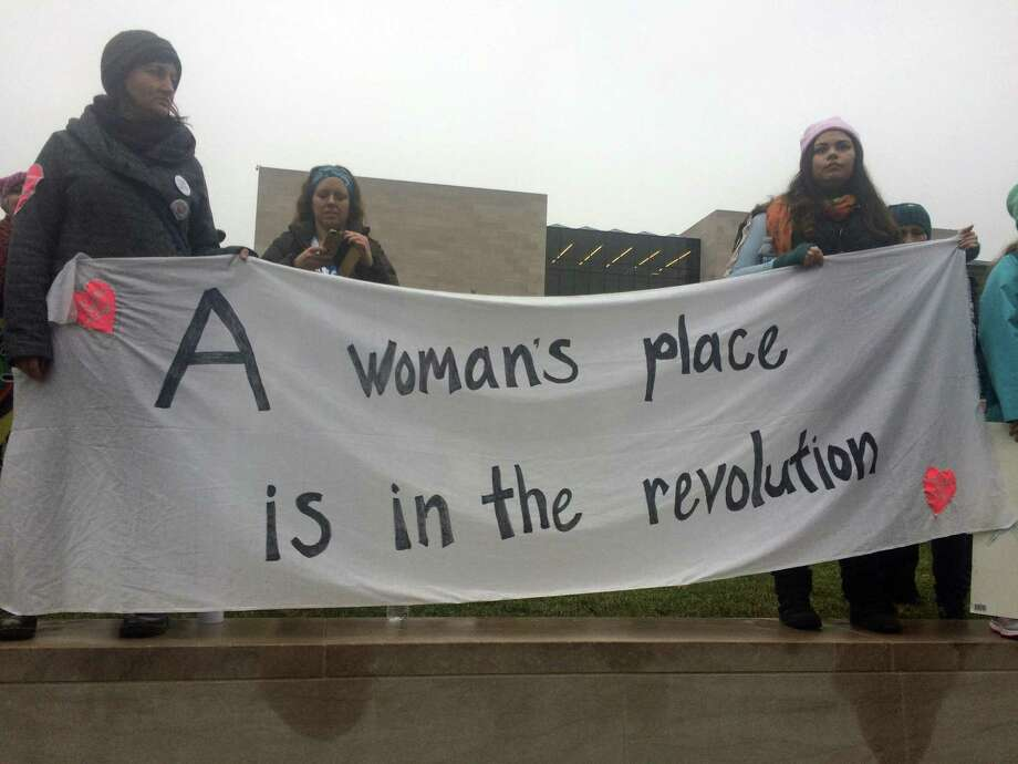 A banner at the Women's March on Washington. Photo: Contributed By Kristen Hinz