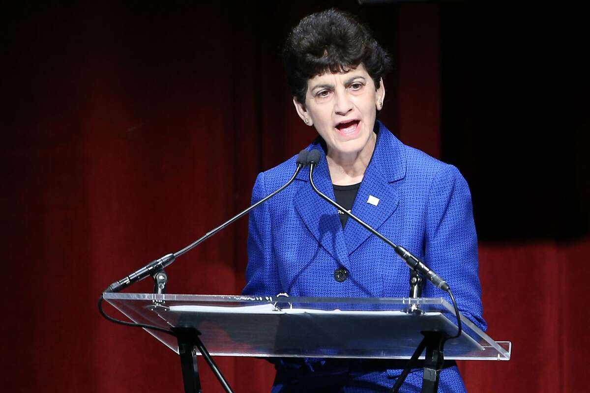 San Jose State President Mary Papazian, shown here in 2017, met with Marie Tuite ahead of Friday's announcement that Tuite will step down as athletic director.