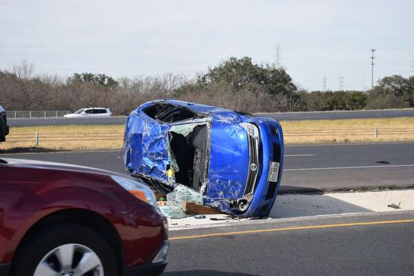 Loop 1604 was shut down Tuesday afternoon after a speeding driver caused a woman to lose control of her car and flip on the highway multiple times.