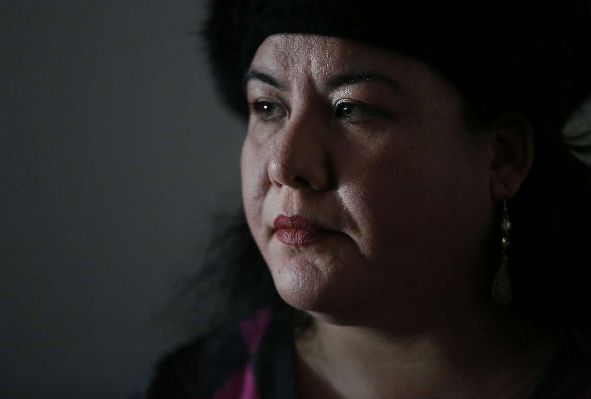 Maria de los Angeles Prieto talks about the experience of having her youngest son suffer from severe lead poisoning during an interview with the Chronicle at the Alameda County Healthy Homes Department Jan. 24, 2017 in Oakland, Calif.