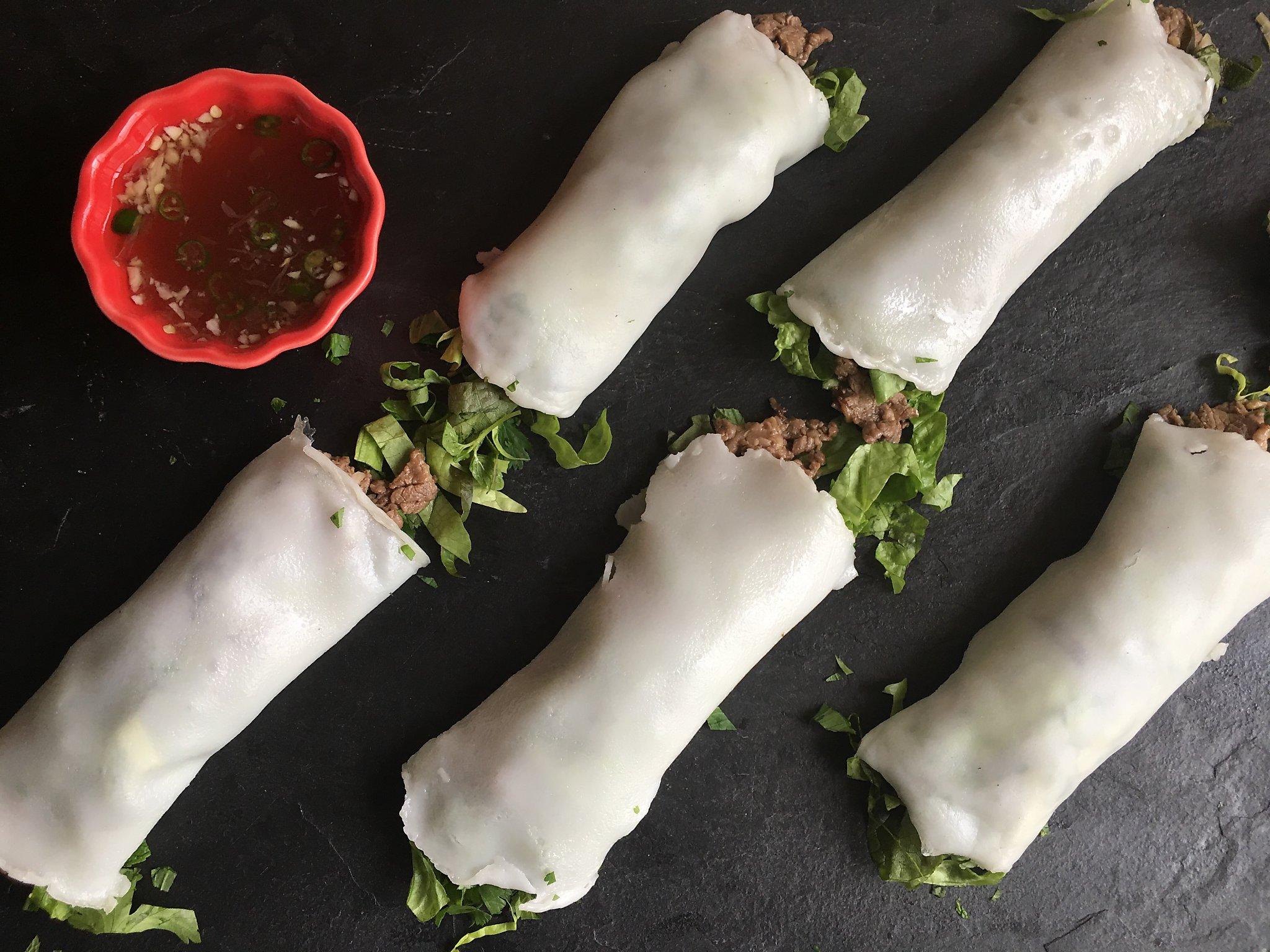 Recipe: Fresh Pho Noodle Rolls