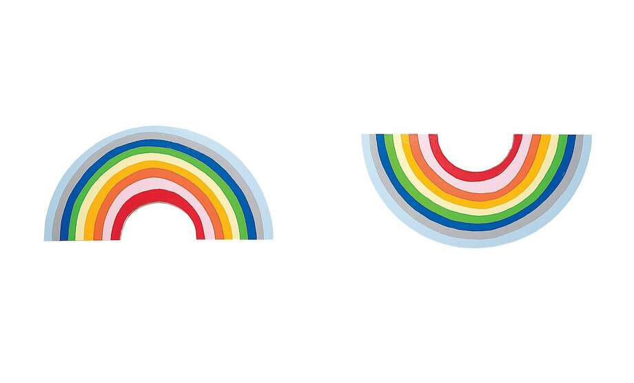 "Cary Leibowitz's colorful semicircles make more sense when the artwork's title is known: ""Sad Rainbow, Happy Rainbow"" (2007). Photo: Courtesy The Artist And Invisible-Exports"