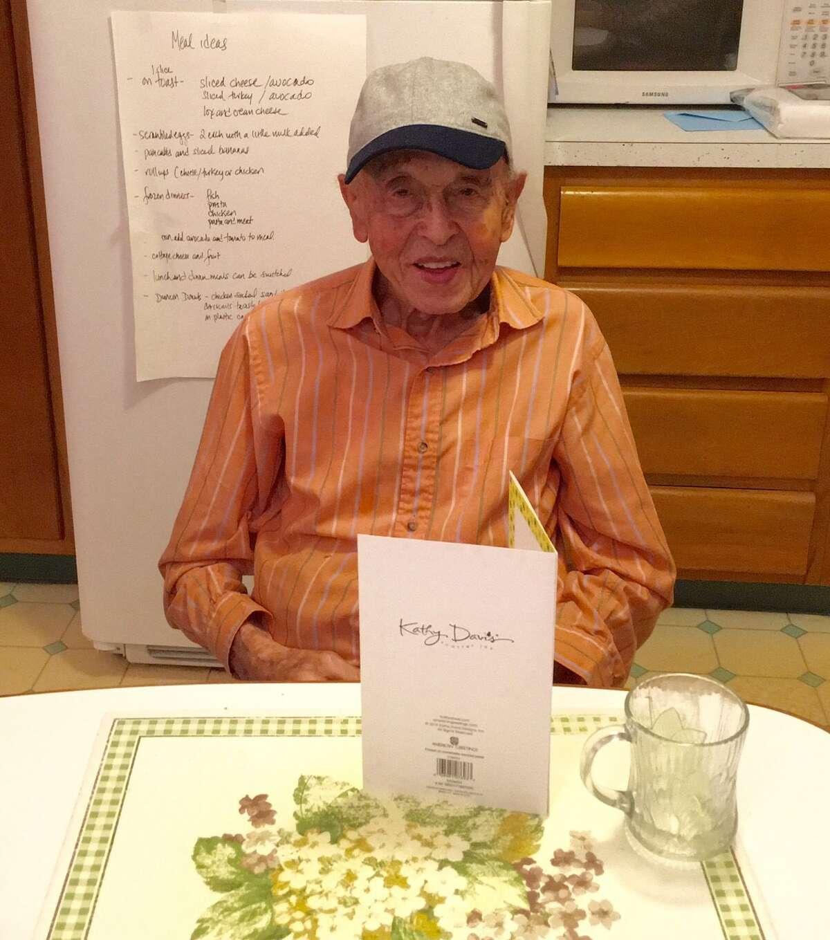 Jack Galek on his 99th birthday (Photo courtesy of Helene Galek)