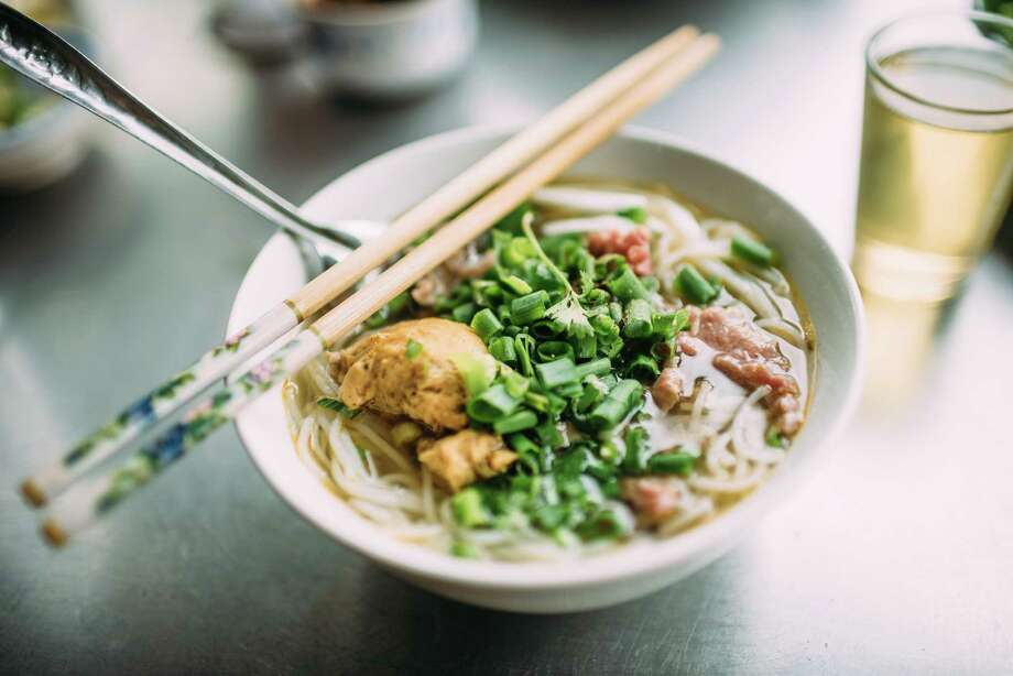 Bun bo Hue - A popular Vietnamese soup containing rice vermicelli (bun) and beef (bo). Hue is a city in central Vietnam associated with the cooking style of the former royal court. The dish is greatly admired for its balance of spicy, sour, salty and sweet flavors and the predominant flavor is that of lemongrass. Photo: Quynh Anh Nguyen / Getty Images / Quynh Anh Nguyen