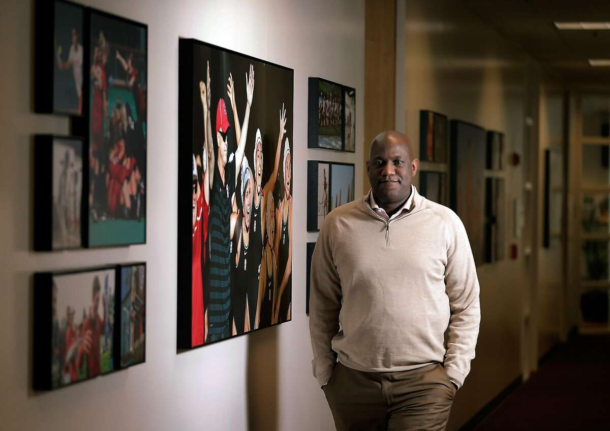 Stanford Athletic Director Bernard Muir, at Stanford University in Stanford, Calif., on Tuesday, January 24, 2017.