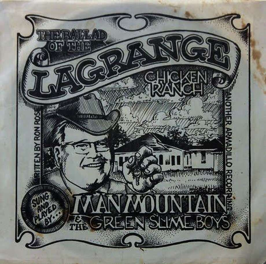 The original sleeve for Man Mountain and the Green Slime Boys' single was drawn by Austin poster artist Micael Priest. Photo: Courtesy Jayme Blaschke