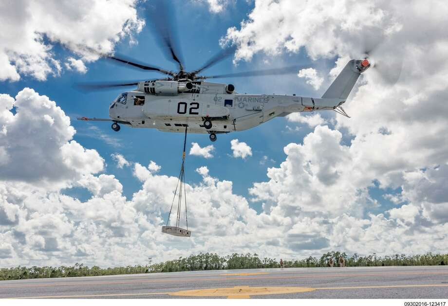 Sikorsky Aircraft tests in October 2016 a prototype of the CH-53K King Stallion helicopter it is selling to the U.S. Marine Corps to ferry soldiers and equipment in combat zones. Photo courtesy Lockheed Martin.