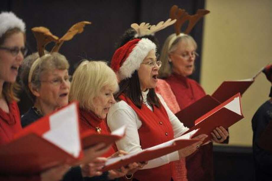 The Greenwich Chorale Society were on of many performers, and sang Christmas favorites. Photo: Michael Cummo / Hearst Connecticut Media / Stamford Advocate