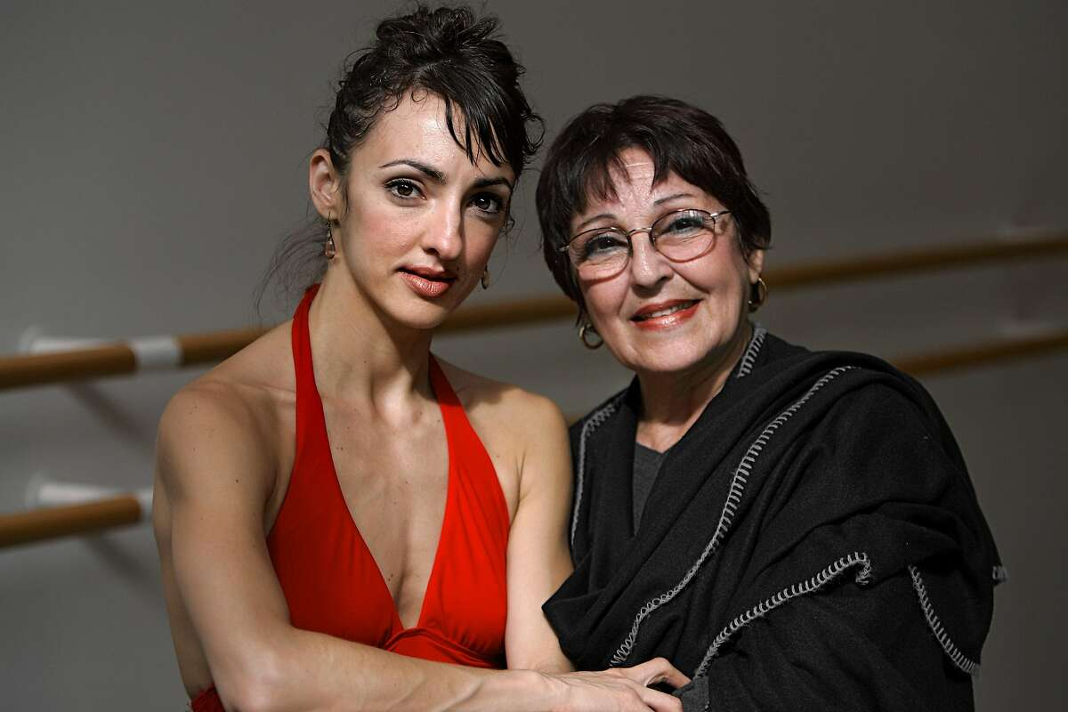 feijoos_ch_196.jpg Lorena and Lupe Feijoo, SF Ballet dancer and her mother, who teaches ballet at City Ballet in San Francisco 3/16/05 Chris Hardy / San Francisco Chronicle Ran on: 03-21-2005 Lupe Calzadilla and her daughter, Lorena Feijoo, are reunited in San Francisco after a long separation. Below: Calzadilla works with dance student Emma Powers at a City Ballet School class.