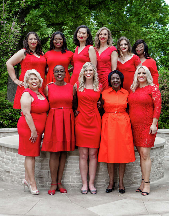 Spokeswomen for the American Heart Association's Go Red for Women. National Wear Red for Women day is Feb. 3 and everyone is invited to wear red to show support for American Heart Month and awarenss of heart disease.