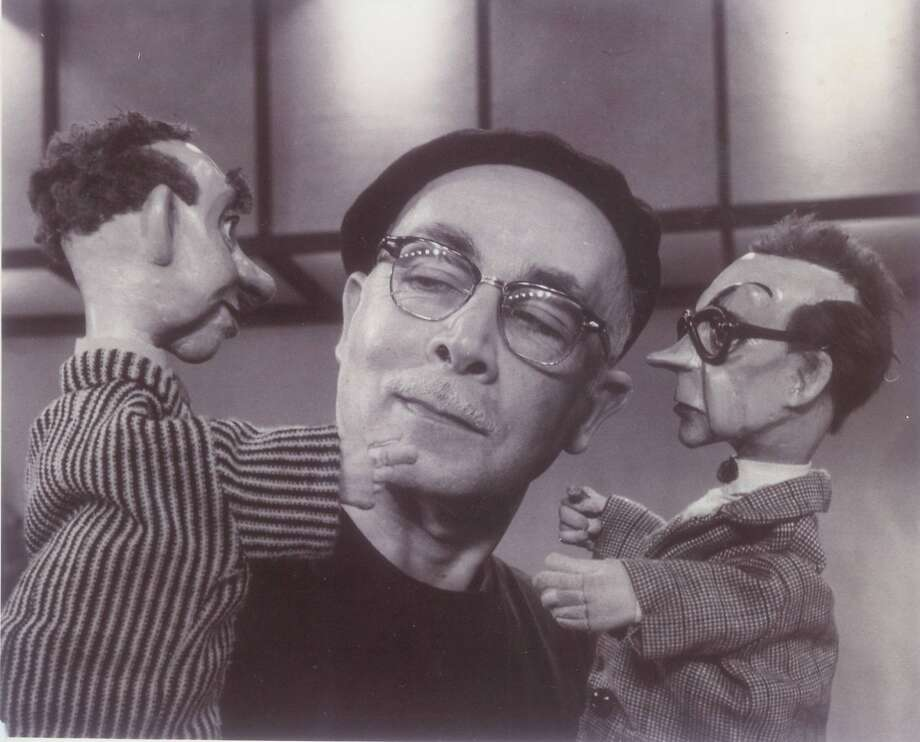 "Ralph Chessé in the 1950s TV show ""The Wonderful World of Brother Buzz."" Photo: San Francisco Bay Area Puppetry Guild."