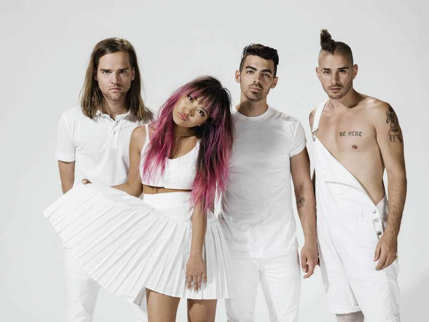 DNCE -- Jack Lawless, JinJoo Lee, Joe Jonas and Cole Whittle -- is riding the wave of its 2015 hit,