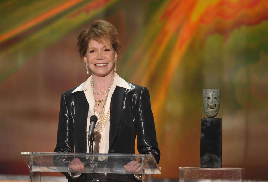 Actress Mary Tyler Moore speaks onstage during The 18th Annual Screen Actors Guild Awards broadcast on TNT/TBS at The Shrine Auditorium on January 29, 2012 in Los Angeles, California.