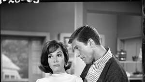 "Dick Van Dyke and Mary Tyler Moore, in ""The Dick Van Dyke Show,"" 1963."