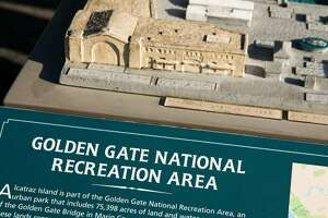 Golden Gate National Recreation Area kiosk with a model of the Piers 31 and 33 in San Francisco, Calif., Wednesday, January 25, 2017.
