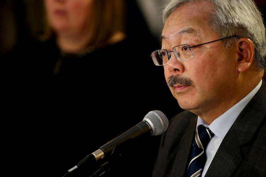 Mayor Ed Lee during a news conference at City Hall on Wednesday, Jan. 25, 2017 in San Francisco, Calif. Lee addressed members of the news media following President Donald Trump's executive order targeting sanctuary cities. Photo: Santiago Mejia, The Chronicle