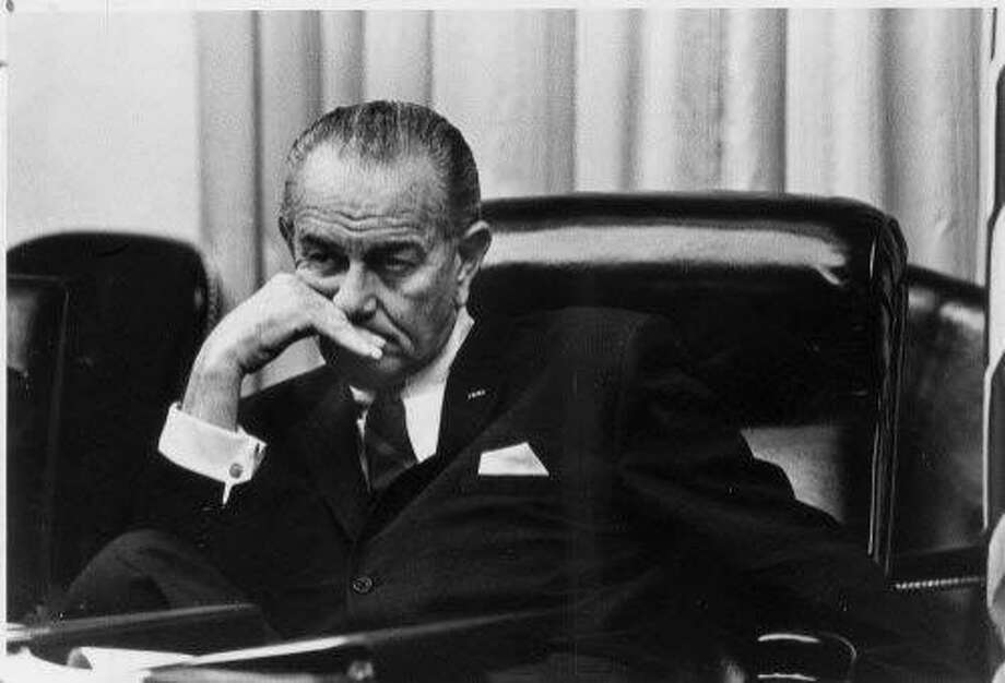 Lyndon B. Johnson's presidency was almost over when this photo was taken in 1968. Photo: CHRONICLE FILE PHOTO