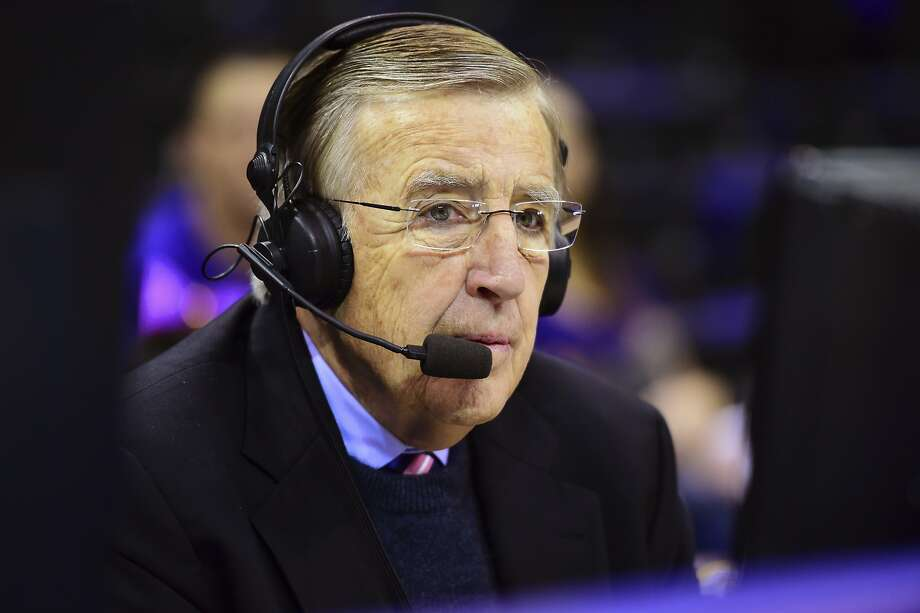 FILE -- In this Jan. 30, 2016, photo provided by ESPN, Brent Musburger works a college basketball game between LSU and Oklahoma in Baton Rouge, La. Musburger has since become a broadcaster for the Oakland Raiders and is being criticized over a political tweet he shared Saturday. Photo: Phil Ellsworth, Associated Press