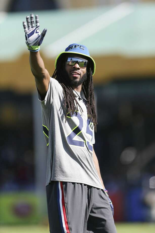 Seattle Seahawks cornerback Richard Sherman (25) waves to fans during the NFC practice for the NFL Pro Bowl, Wednesday, Jan. 25, 2017 in Lake Buena Vista, Fla. (AP Photo/Doug Benc) Photo: Doug Benc/AP