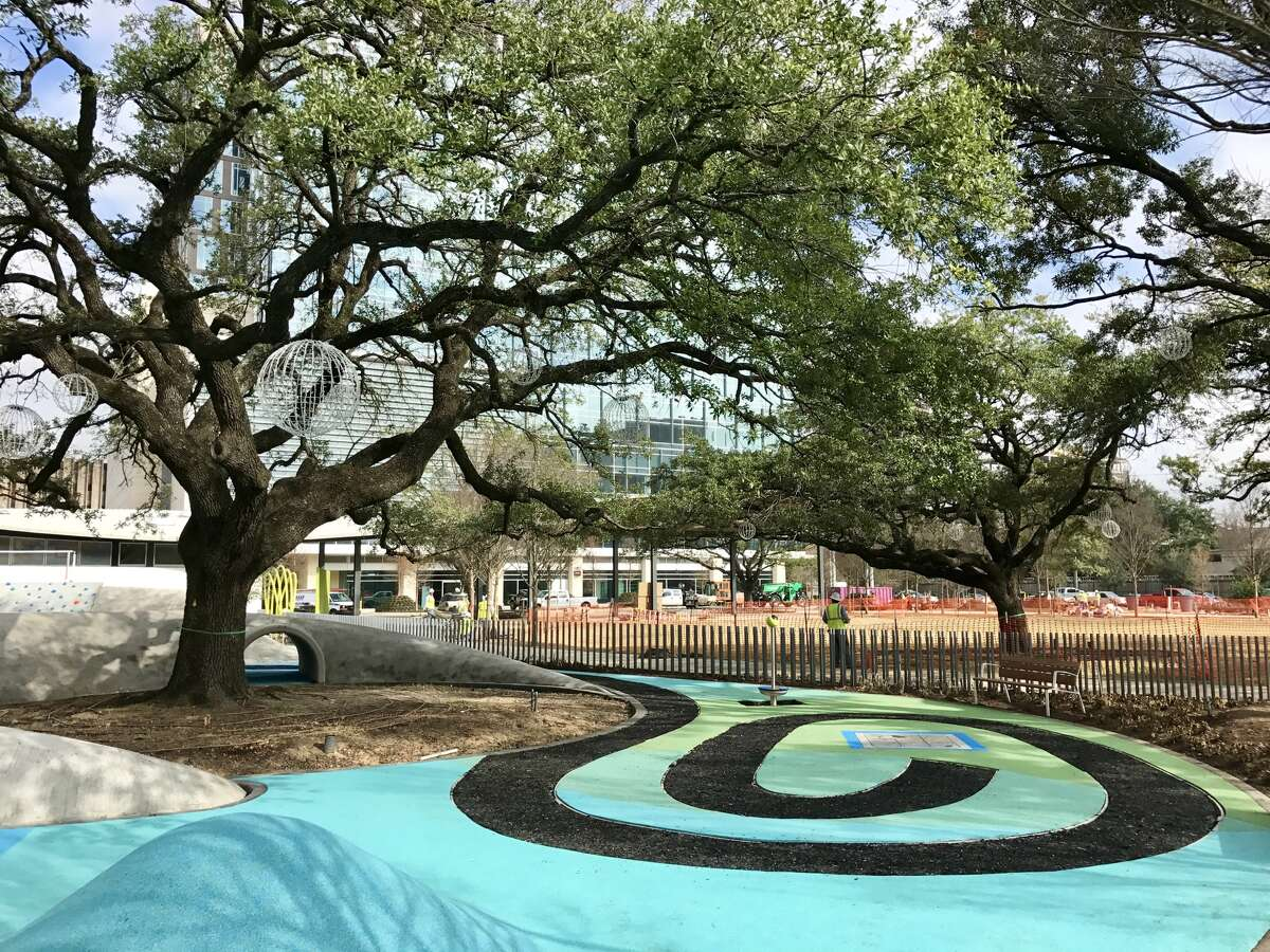 The park has spaces for playing, events lawns, and amphitheater and activities such as yoga and tai chi.