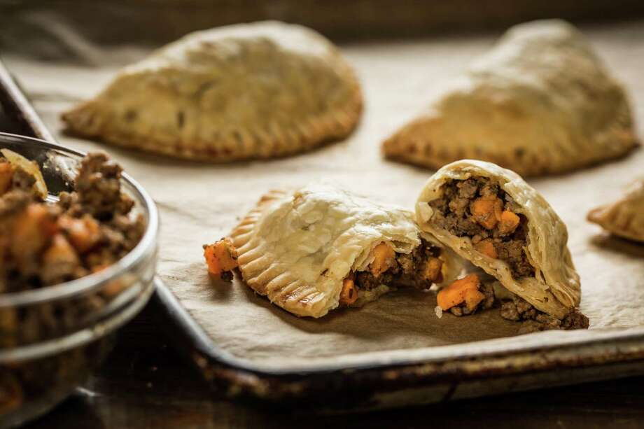 Add beef and sweet potato empanadas to your Super Bowl party table. Photo: Courtesy Texas Beef Council / ©2016. Melissa Skorpil.