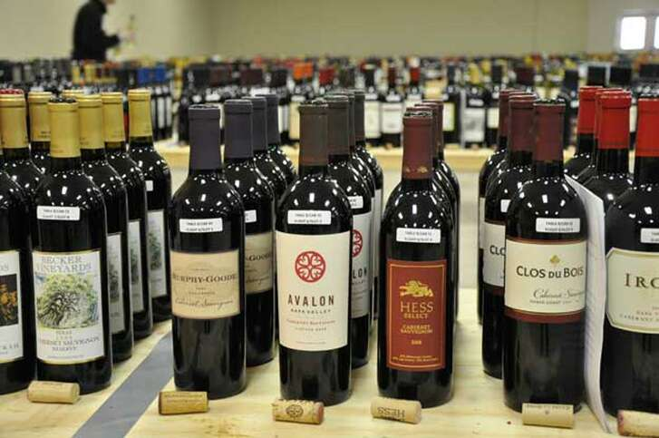 More than 1,000 wines competed in the San Antonio Stock Show & Rodeo Wine Competition this year. The bottles pictured were part of the 2012 competition.