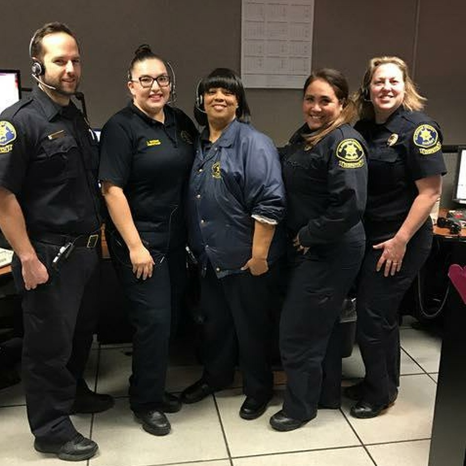 Five Alameda County Sheriff's Office dispatchers helped prevent a woman in New York from killing herself on Facebook Live early Wednesday. Photo: Alameda County Sheriff's Office