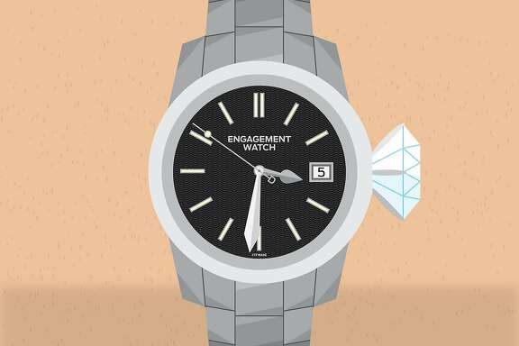 Are engagement watches for men a coupling trend, or is the writer just lucky? The Chronicle's Style team investigates. Illustration Christopher T. Fong / The Chronicle