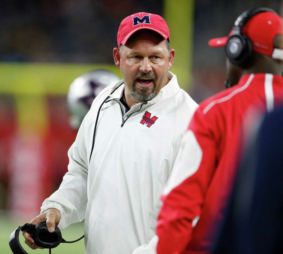 Beginning in 2018, if Manvel's Kirk Martin and other Class 5A football coaches lead their teams to a district title they will be rewarded with a home game in the first round of the playoffs. Photo: Karen Warren, Staff / © 2015  Houston Chronicle
