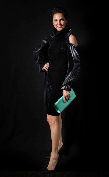 Jessica Rossman wears Ralph Lauren.   Wednesday, Jan. 25, 2017, in Houston.