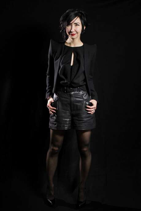 Carrie Brandsberg-Dahl wears Saint Laurent.  Wednesday, Jan. 25, 2017, in Houston.