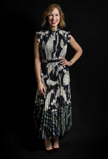 Carolyn Dorros wears Erdem.   Wednesday, Jan. 25, 2017, in Houston.