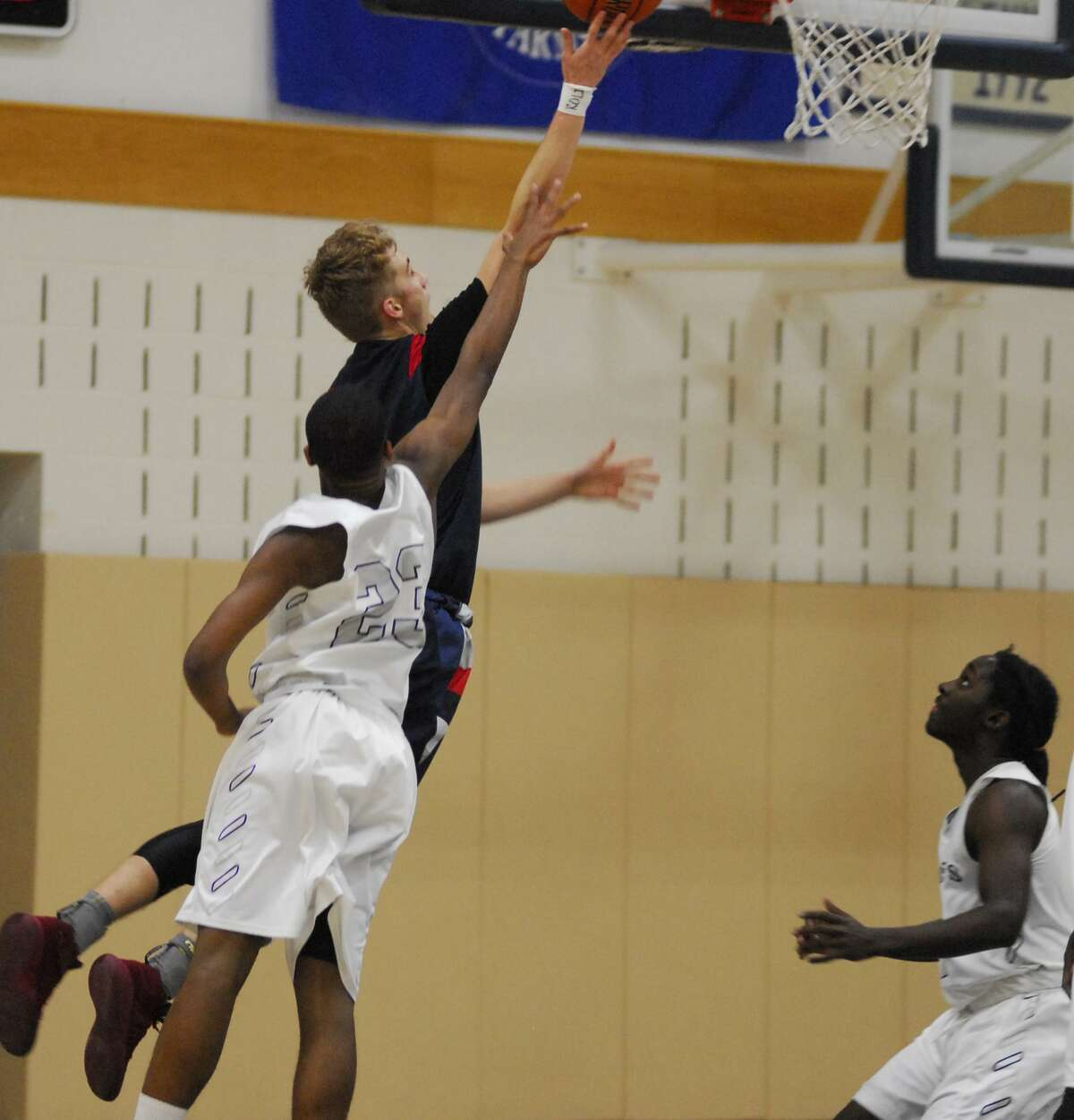 GFA's Cole Prowitt-Smith goes up for a layup during Wednesday's game against Masters.