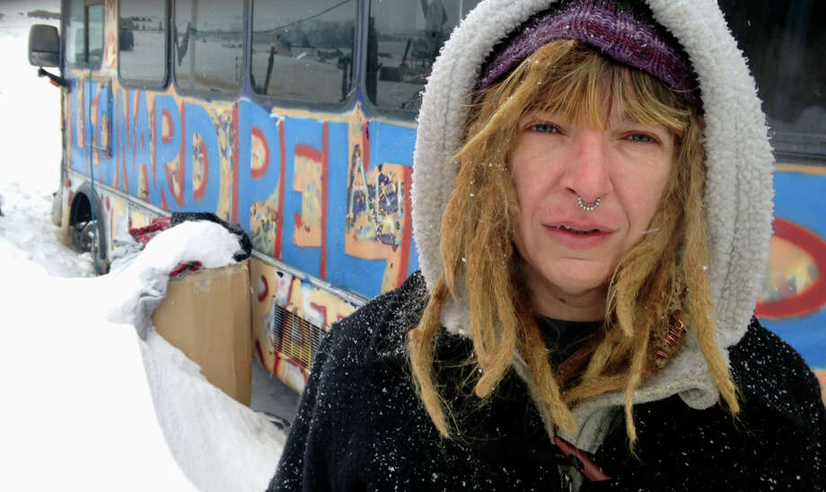 Gena Neal of Oklahoma says she's staying at the protest camp where a few hundred foes of the Dakota Access oil pipeline have been staying. Photo: James MacPherson, STF / Copyright 2017 The Associated Press. All rights reserved.