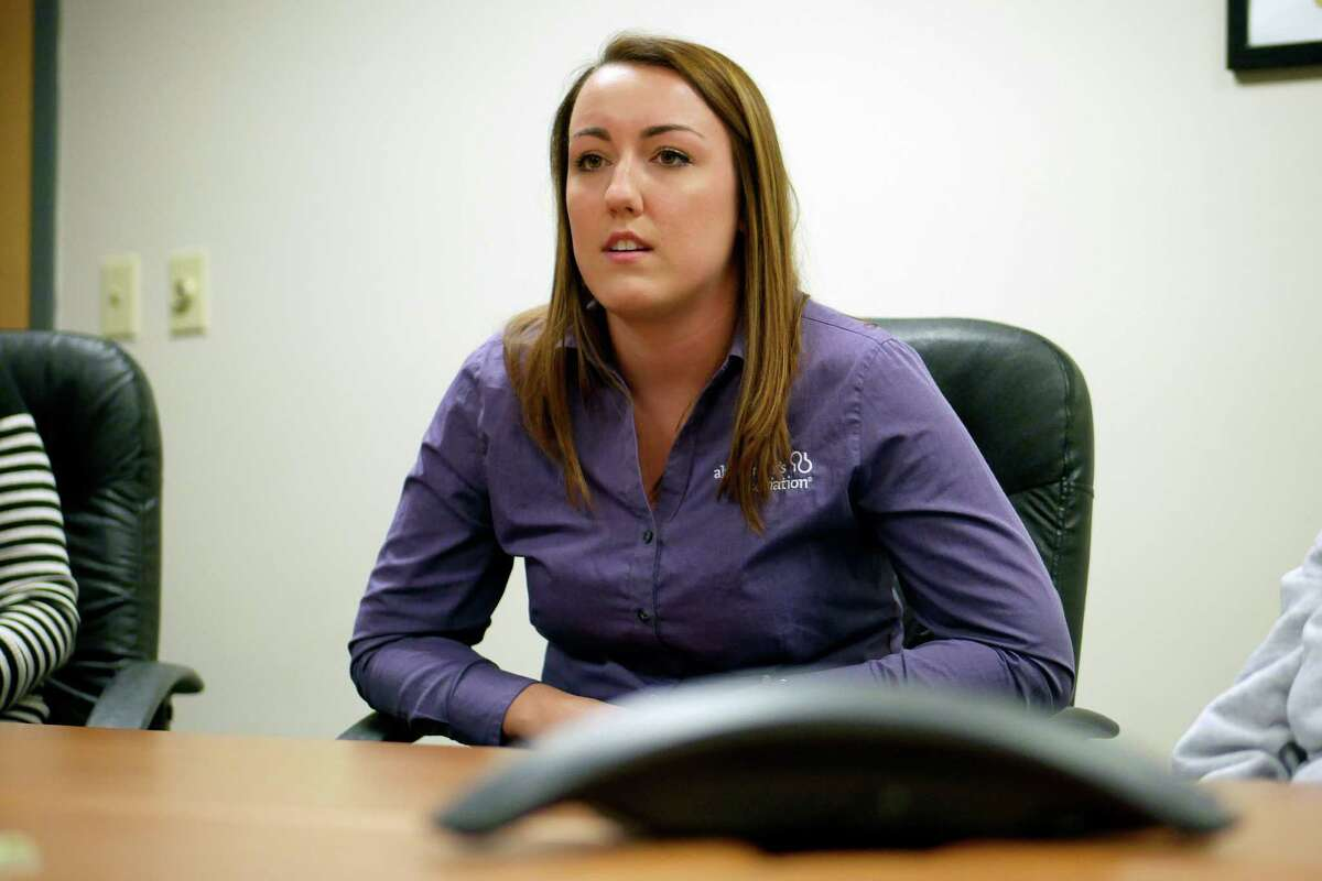 Maura Fleming, the Alzheimer's Association program manager for Albany and Schenectady Counties, talks about Alzheimer's during an interview on Wednesday, Jan. 25, 2017, at the Alzheimer's Association in Albany, N.Y. (Paul Buckowski / Times Union)