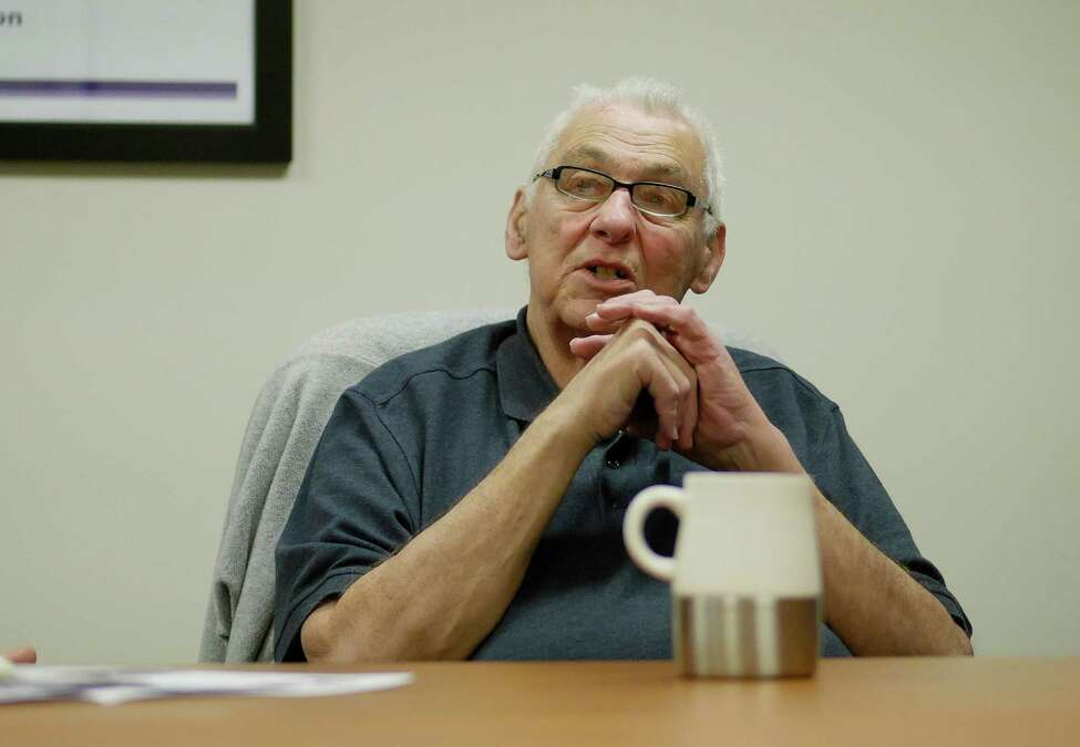 Ron Bruso of Loudonville, who has Alzheimer's, talks about his life during an interview during an interview on Wednesday, Jan. 25, 2017, at the Alzheimer's Association in Albany, N.Y. (Paul Buckowski / Times Union)
