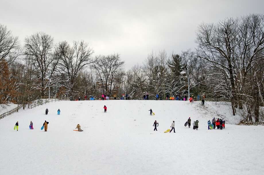 City Forest is Midland's largest park, at 520 acres. There's a sledding hill, chalet, hiking, bicycle and skiing trails and other recreation offered year-round. Photo: 2016 File Photo