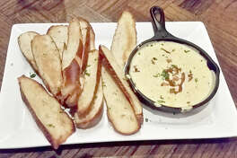 The beer cheese fondue off of the starter menu.