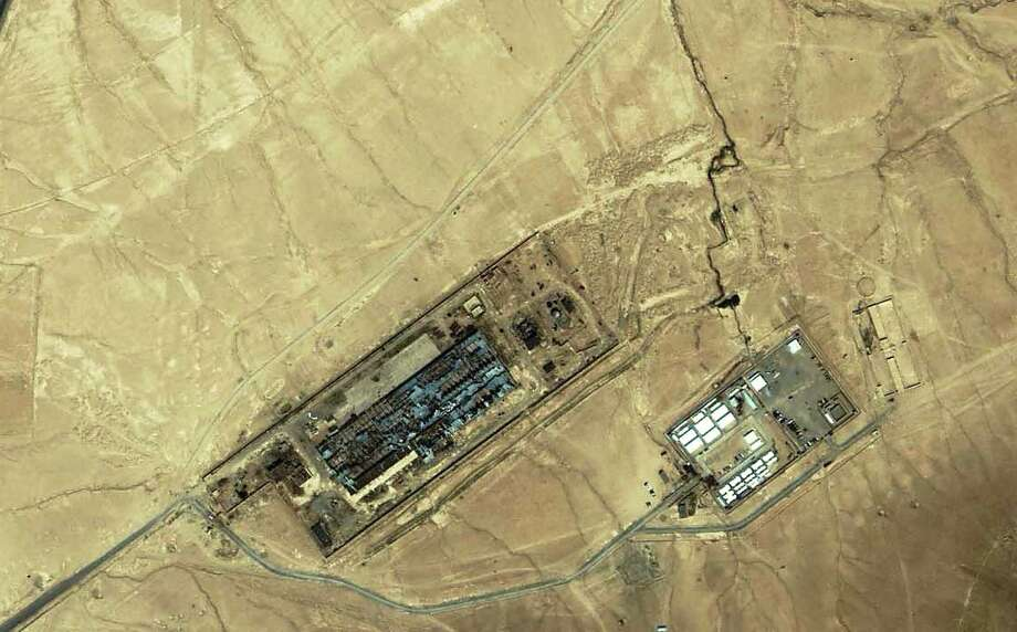"""(FILES) This file photo taken on July 17, 2003 shows an IKONOS satellite image provided by Space Imaging of a suspected """"black site"""" facility near the Afghan capital of Kabul. The Trump administration is drafting an order allowing the CIA to reopen overseas """"black site"""" prisons used to torture suspects after 9/11, media reported January 25, 2017, although the White House denied creating the document. The three-page order would undo many of the restrictions on handling detainees put in place under president Barack Obama to roll back practices authorized during George W. Bush's administration, The New York Times reported.  / AFP PHOTO / SPACE IMAGING MIDDLE EAST / HO / RESTRICTED TO EDITORIAL USE - MANDATORY CREDIT """"AFP PHOTO / SPACE IMAGING MIDDLE EAST"""" - NO MARKETING - NO ADVERTISING CAMPAIGNS - DISTRIBUTED AS A SERVICE TO CLIENTS  HO/AFP/Getty Images Photo: HO, Stringer / AFP/Getty Images / AFP"""