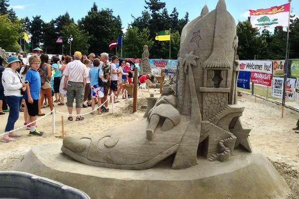 Sandy Feet is a new attraction at the 2017 San Antonio Stock Show & Rodeo. Straight from South Padre Island, professional sand sculptor Sandy Feet (aka Lucinda Wierenga) and her team will impress attendees with their beachy-keen sand castles.