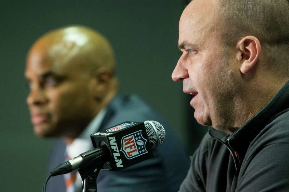The relationship between Texans general manager Rick Smith, left, and coach Bill O'Brien is a popular topic on the NFL rumor mill. Photo: Brett Coomer, Staff / © 2016 Houston Chronicle
