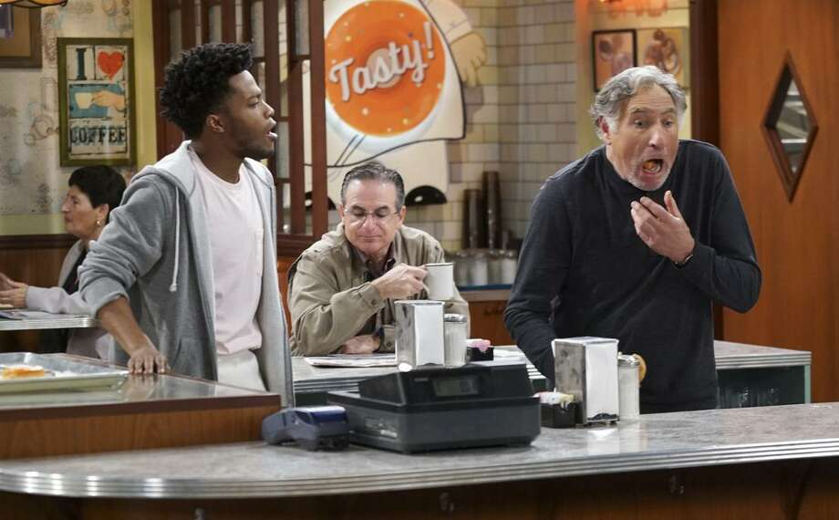 "Jermaine Fowler (left) is Franco and Judd Hirsch is Arthur in ""Superior Donuts,"" a new CBS sitcom about a struggling Chicago doughnut shop. Photo: Monty Brinton / Monty Brinton / CBS / ©2016 CBS Broadcasting, Inc. All Rights Reserved"