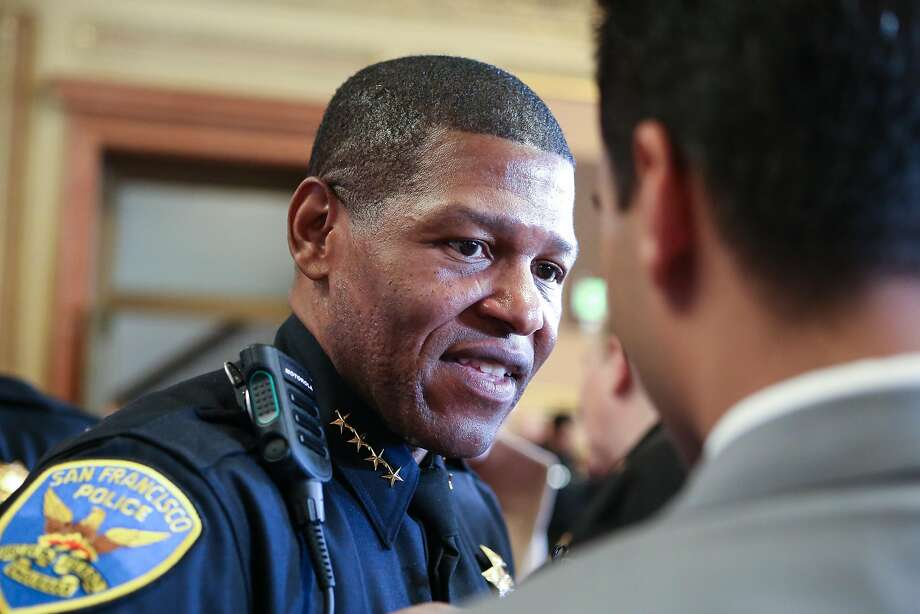 New police chief William Scott speaks with audience members after Mayor Ed Lee's annual state of the city address on Thursday, January 26, 2017 in San Francisco, Calif. Photo: Amy Osborne, Special To The Chronicle